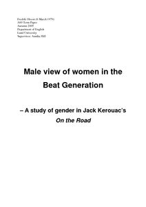 Male View Of Women In The Beat Generation A Study Of Gender In