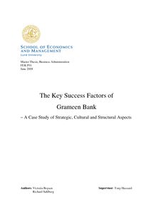 grameen bank case study Grameen bank is a specialized bank, works with microcredit, for the mass poor people, established in 1983 the concept mainly come through a pilot project, back in 1976, under the economics professor of cu mr md younus.