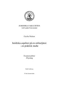 Juridiska aspekter på en onlinetjänst - en praktisk studie f070e2c189fee