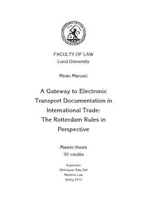 Rotterdam Rules Pdf