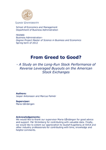 From Greed to Good? - A Study on the Long-Run Stock