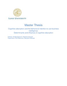 Thesis about business intelligence