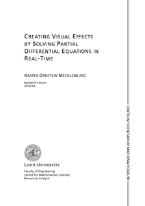 Creating Visual Effects by Solving Partial Differential Equations in