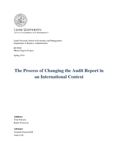The Process of Changing the Audit Report in an International