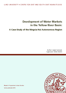 Development of Water Markets in the Yellow River Basin: A