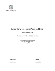 Long-Term Incentive Plans and Firm Performance