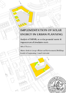 Implementation of solar energy in urban planning