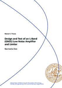master thesis low noise amplifier A 1-v, cmos on soi, 19-ghz cdma low noise amplifier master of applied science 2000 this thesis deals with the design and implernentation of a iv.
