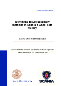 Identifying future assembly methods in Scania´s wheel axle