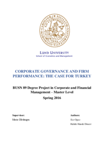 literature review on good corporate governance A literature review on environmental, social and governance reporting   corporate social responsibility (csr) financial performance environmental   of china top 100 green companies and concludes that good esg.