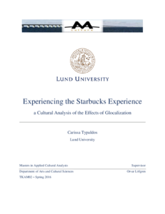 starbucks ethnography Ethnography, and provide rigor and ethics in the conduct of marketing research as an illustrative example, the author provides a netnography of.