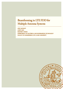 Beamforming in LTE FDD for Multiple Antenna Systems
