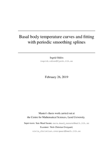 Basal body temperature curves and fitting with periodic